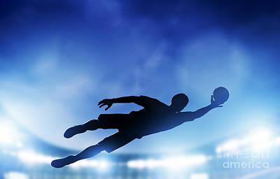 Male Photograph - Football Soccer Match by Michal Bednarek