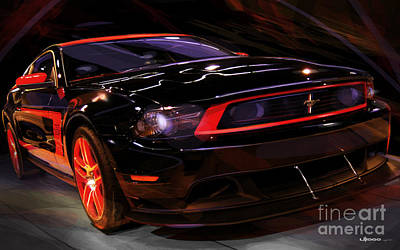 Ponies Digital Art - Ford Laguna Seca Boss 302 Mustang by Uli Gonzalez