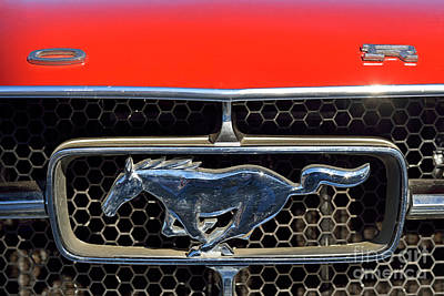 Ford Mustang Painting - Ford Mustang Badge by George Atsametakis