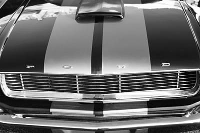 Ford Mustang Grille Print by Jill Reger