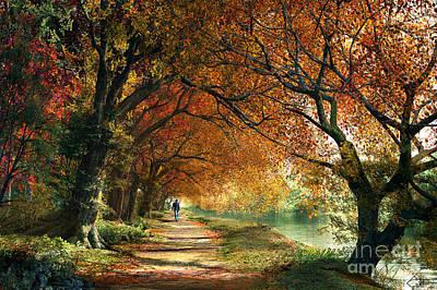 Countryside Digital Art - Forever Autumn by Dominic Davison