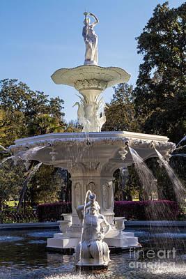 Forsyth Park Fountain Savannah Georgia Print by Dawna  Moore Photography
