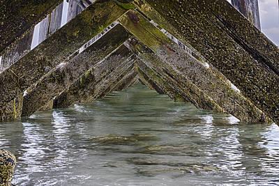 Hdr Photograph - Fort Foster Pier - Kittery - Maine by Steven Ralser