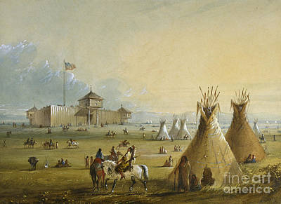 Stencil Art Painting - Fort Laramie by Celestial Images