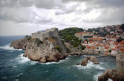 Red Roof Photograph - Fort Lovrijenac - Dubrovnik - Croatia by Madeline Ellis