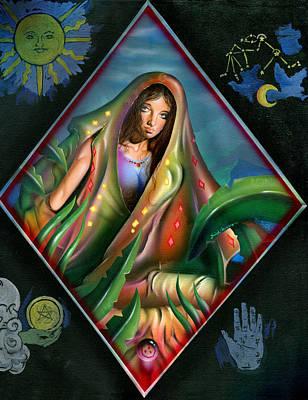 Oracle Painting - Fortune Teller by Luis  Navarro