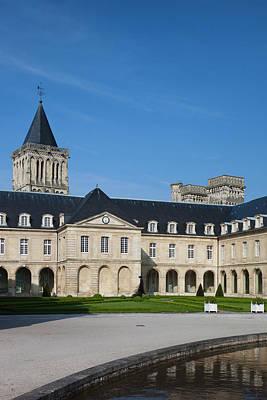 France, Normandy, Caen, Abbaye Aux Print by Walter Bibikow