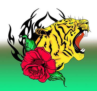 Freak Tiger  Print by Mark Ashkenazi