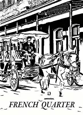 Mule Digital Art - French Quarter Carriage  by Steve Harrington