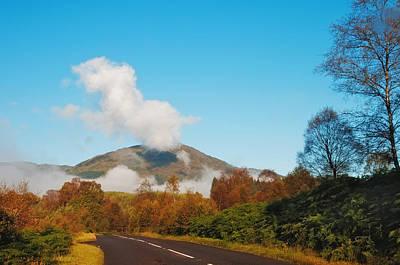 Fresh Morning Road Through The Trossachs National Park. Scotland Print by Jenny Rainbow