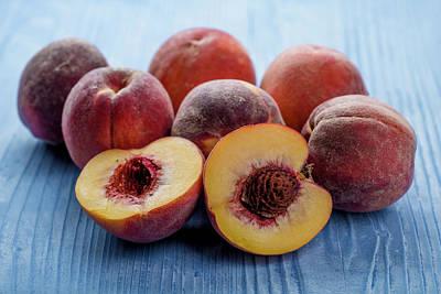 Peach Photograph - Fresh Peaches by Aberration Films Ltd