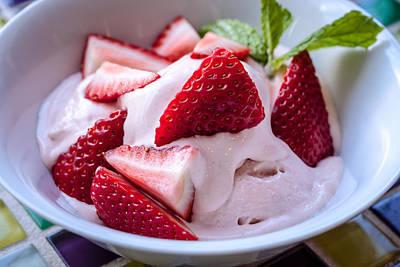 Fresh Strawberry Ice Cream Original by Teri Virbickis