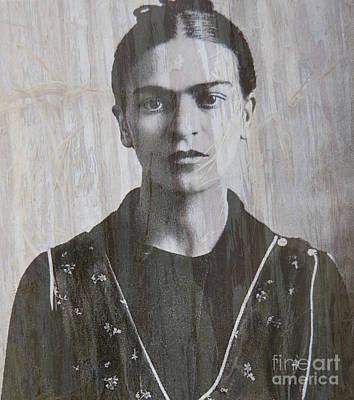 Kahlo Mixed Media - Frida In 1932 by Patricia Januszkiewicz