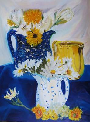 From My Pitcher Collection Print by Cindy Lawson-Kester