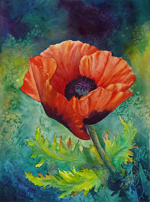 Impressionistic Painting - From The Poppy Patch by Karen Mattson