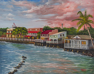 Old Street Painting - Front Street Lahaina by Darice Machel McGuire