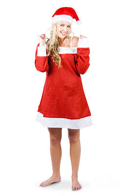 Fully Body Santas Little Helper Elf Looking Happy Print by Jorgo Photography - Wall Art Gallery