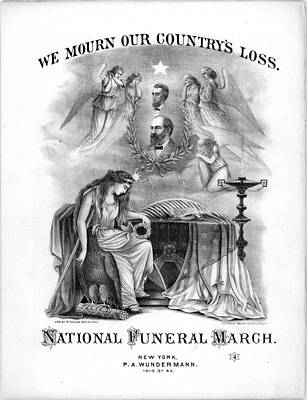Lincoln Painting - Funeral March To The Memory Of Abraham Lincoln by Celestial Images