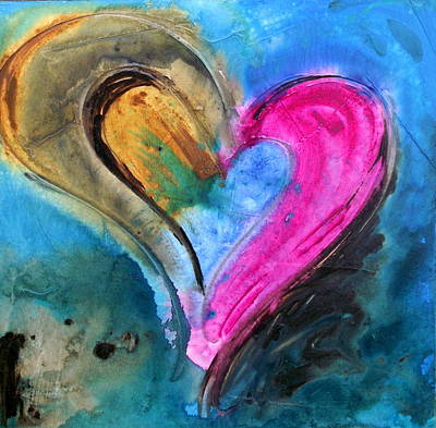 Christian Artwork Painting - Fusion De Amor by Ivan Guaderrama