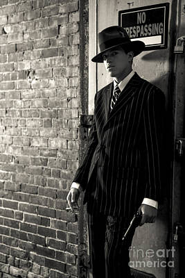 Gangster In The Shadows Print by Diane Diederich