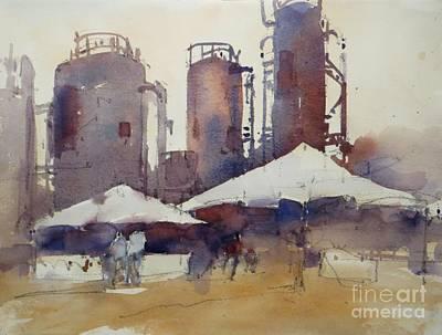 Seattle Painting - Gasworks Park by Jennifer Wu