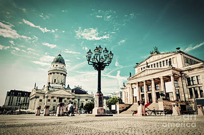 Lantern Photograph - Gendarmenmarkt In Berlin Germany by Michal Bednarek