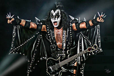 Epiphone Guitar Photograph - Gene Simmons by Don Olea