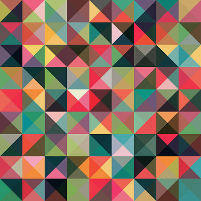 Geometric Art Print by Mike Taylor