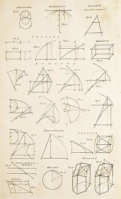 Geometrical Constructions And Principles Print by David Parker