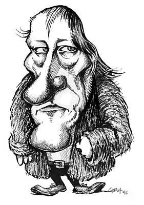 Georg Hegel, Caricature Print by Gary Brown