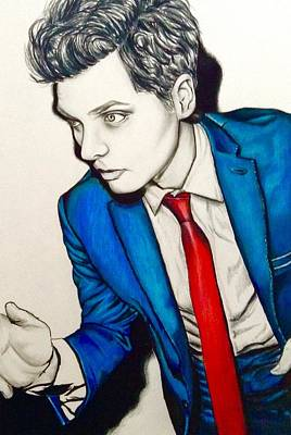 Alternative Rock Band Drawing - Gerard Way  by Jeszy Arnold