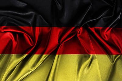 Textiles Photograph - German Flag by Les Cunliffe