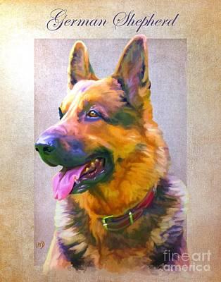 German Shepherd Portrait Print by Iain McDonald