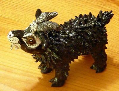 Sculpture - Get Your Goat by Debbie Limoli