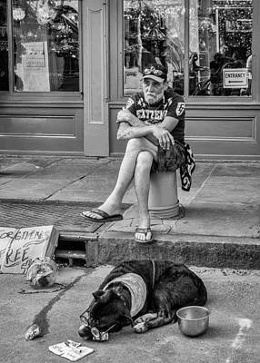 Zz Photograph - Gettin' By In New Orleans Bw by Steve Harrington