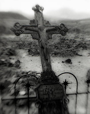 Ghost Town Cross Print by Sonja Quintero