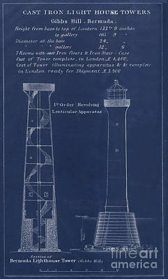 Cast Iron Drawing - Gibbs Hill Lighthouse by Jerry McElroy