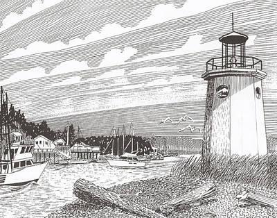 Lighthouse Gig Harbor Entrance Original by Jack Pumphrey