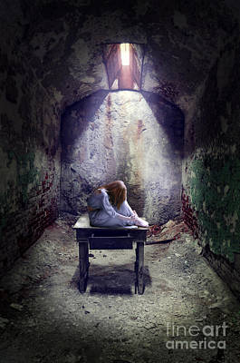Hiding Photograph - Girl In Abandoned Room by Jill Battaglia