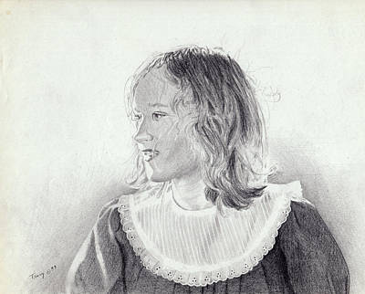 Girl With Big Collar Original by Robert Tracy