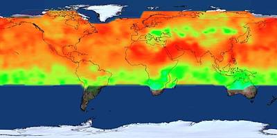 Co2 Photograph - Global Co2 Concentrations by Nasa's Scientific Visualization Studio