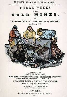 Gold Rush Painting - Gold Rush Guidebook, 1848 by Granger