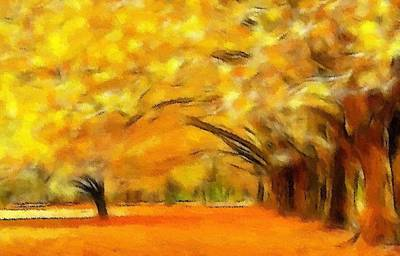 Golden Autumn Print by Steve K