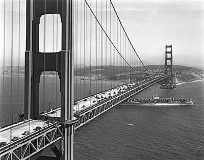 Warships Photograph - Golden Gate Bridge Opening by Underwood Archives