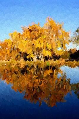 Golden October Print by Steve K