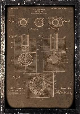 Golf Ball Patent Print by Dan Sproul