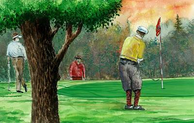 Golf Outing Print by Steven Schultz