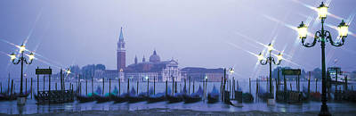 Water Filter Photograph - Gondolas San Giorgio Maggiore Venice by Panoramic Images