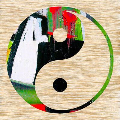 Yoga Mixed Media - Good Balance by Marvin Blaine