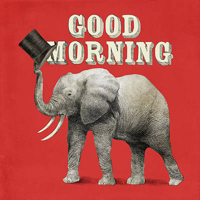 Red Drawing - Good Morning by Eric Fan